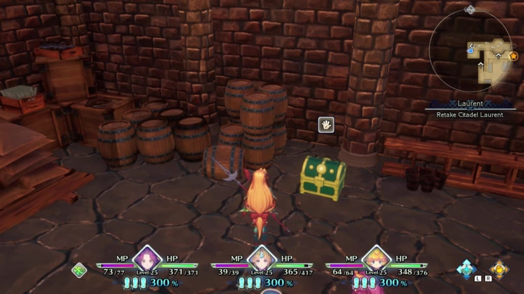 Trials of Mana - Chapter 2: Citadel of Laurent - Chest Location 1