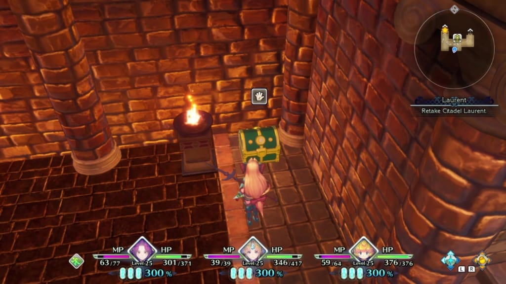 Trials of Mana - Chapter 2: Citadel of Laurent - Chest Location 5