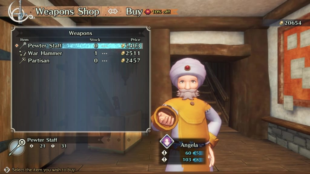 Trials of Mana - Chapter 2: Citadel of Laurent - Weapon Shop