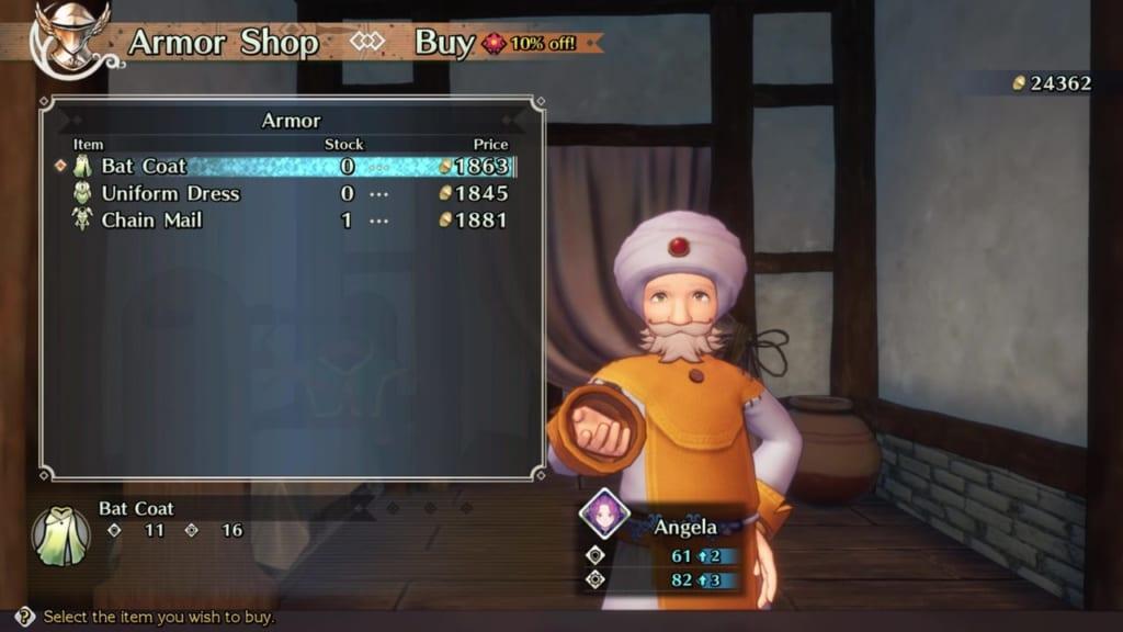 Trials of Mana - Chapter 2: Citadel of Laurent - Armor Shop