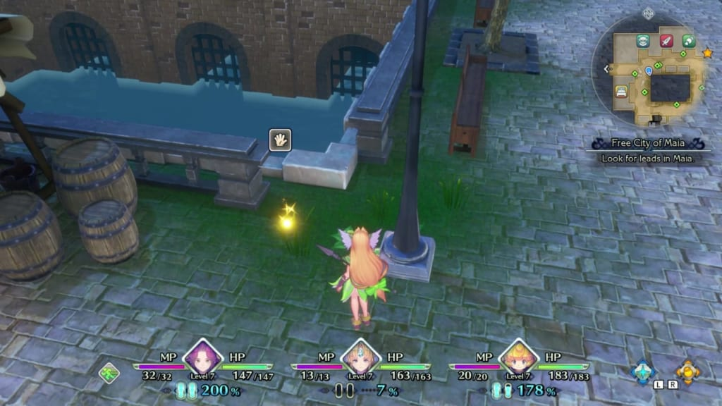 Trials of Mana - Chapter 1: Free City of Maia - Orb Location 2