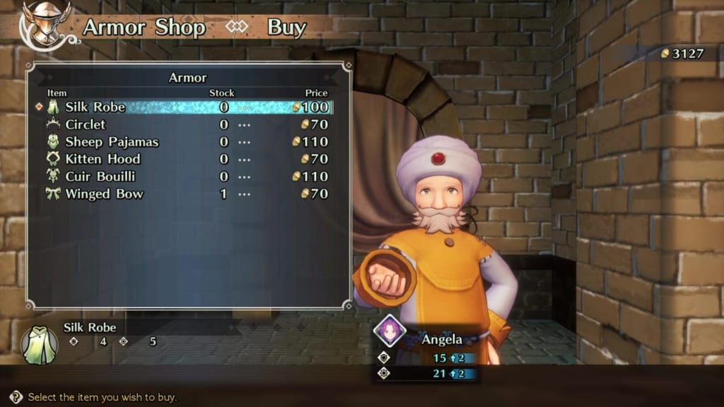 Trials of Mana - Chapter 1: Free City of Maia - Armor Shop