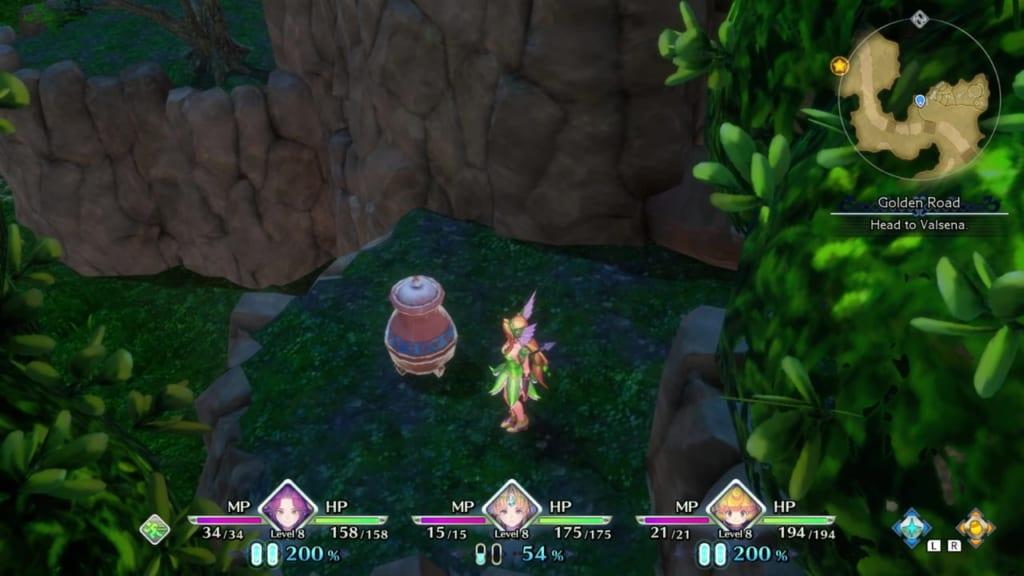 Trials of Mana - Chapter 1: Golden Road - Vase Location 1