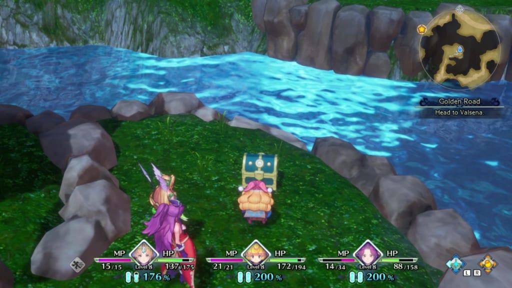 Trials of Mana - Chapter 1: Golden Road - Chest Location 3