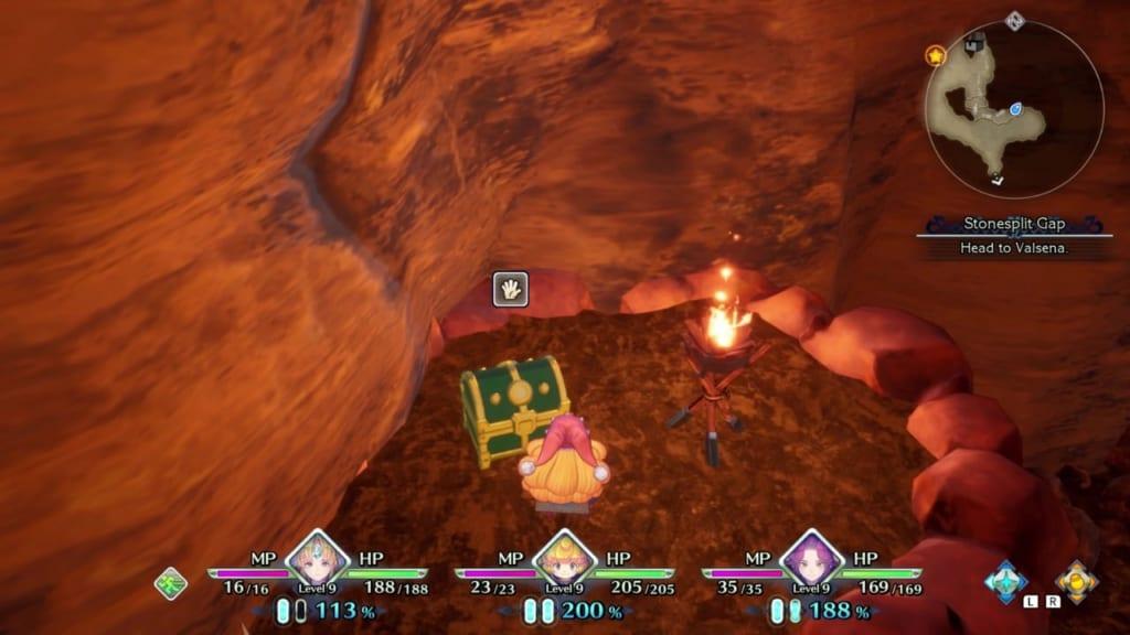 Trials of Mana - Chapter 1: Stonesplit Gap - Chest Location 2