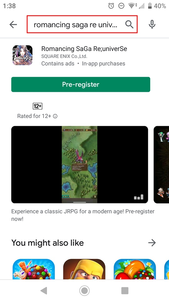 Romancing Saga Re Universe - Android Pre Register