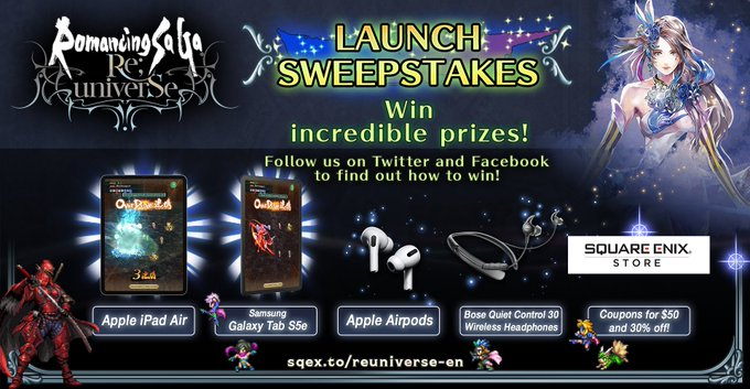 Romancing Saga Re Universe - Launch Sweepstakes