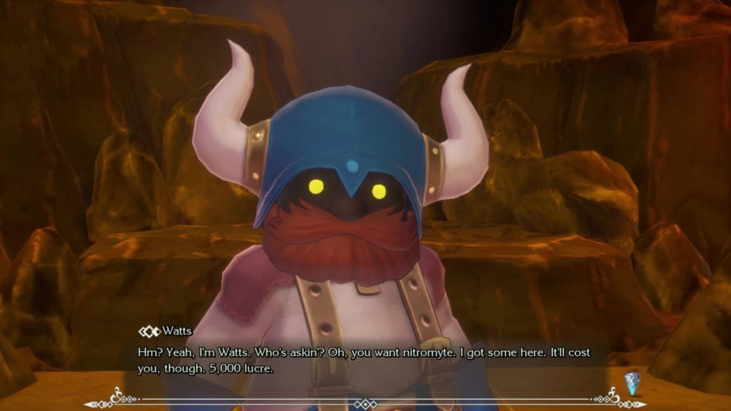 Trials of Mana - Chapter 1: Dwarf Tunnel - Pay 5,000 Lucre for Nitromyte