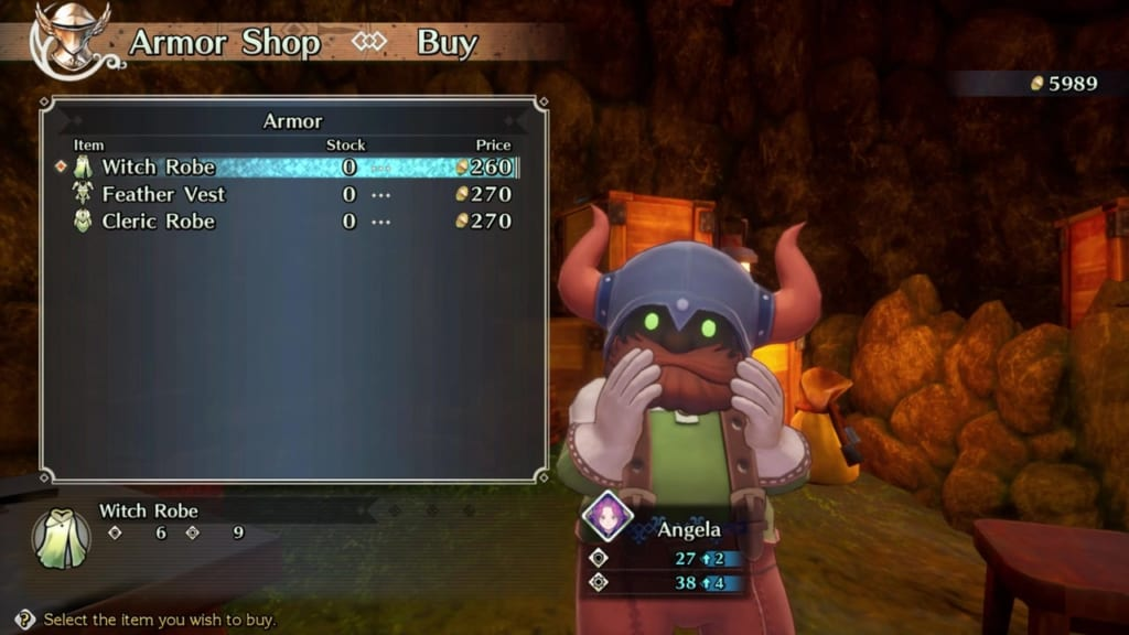 Trials of Mana - Chapter 1: Dwarf Village - Armor Shop