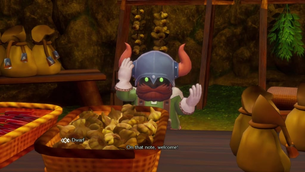 Trials of Mana - Chapter 1: Dwarf Village - Item Shop Owner