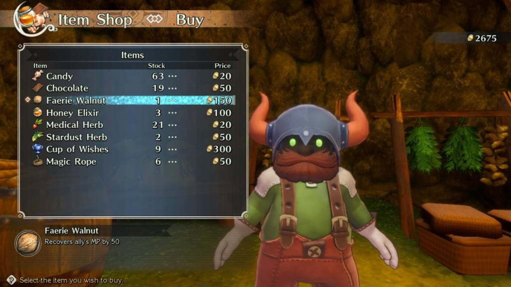Trials of Mana - Chapter 1: Dwarf Village - Item Shop