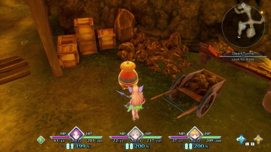 Trials of Mana - Chapter 1: Dwarf Tunnel - Vase Location 1