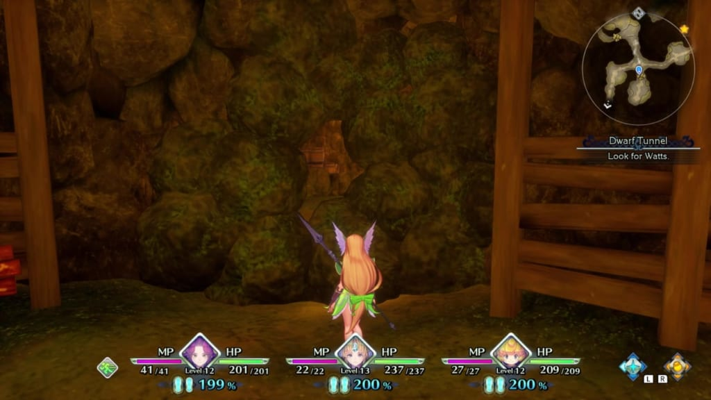 Trials of Mana - Chapter 1: Dwarf Tunnel - Cave Walls