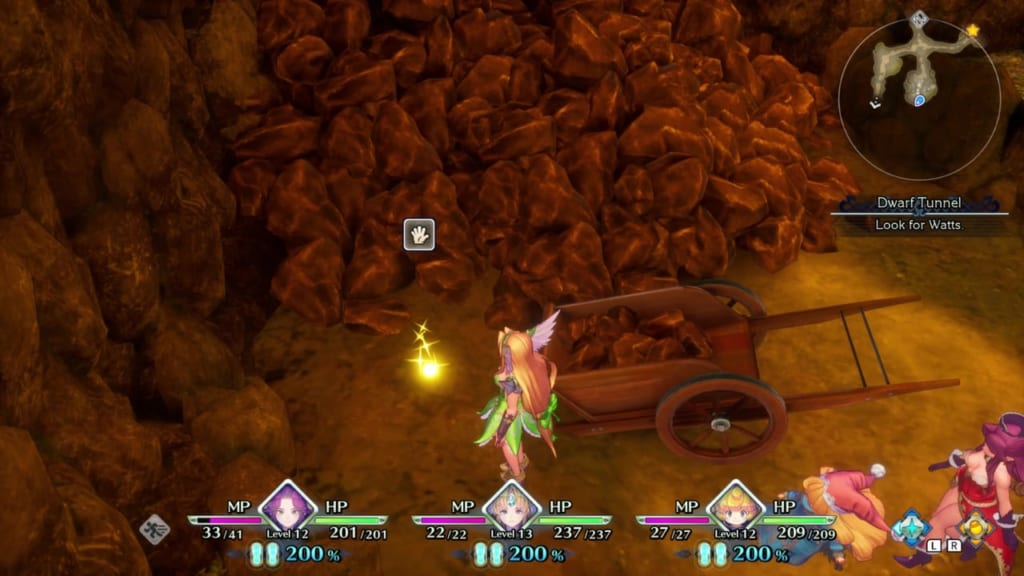 Trials of Mana - Chapter 1: Dwarf Tunnel - Orb Location 2