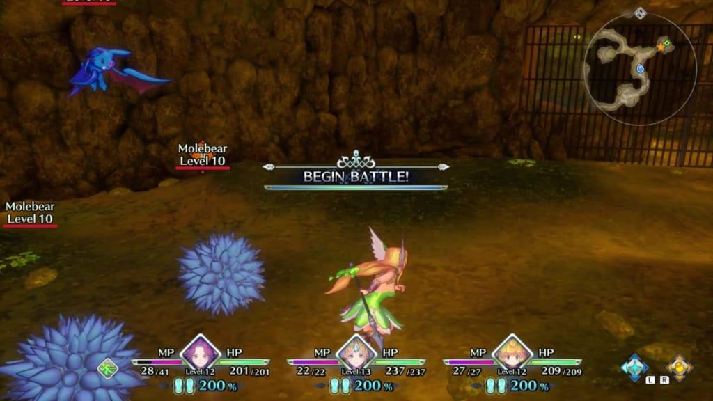 Trials of Mana - Chapter 1: Dwarf Tunnel - Avoid Molebear's Sonic Wonder