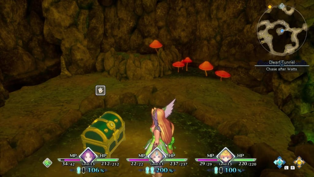 Trials of Mana - Chapter 1: Dwarf Tunnel - Chest Location 1