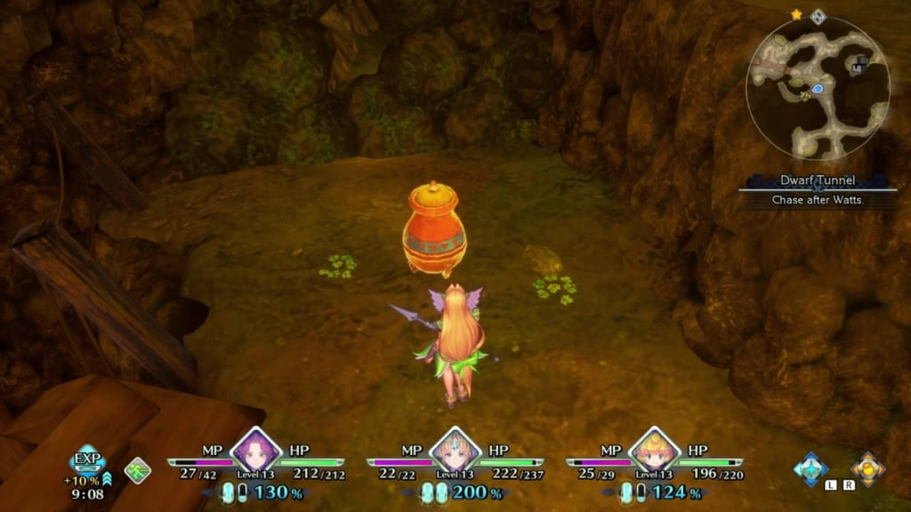 Trials of Mana - Chapter 1: Dwarf Tunnel - Vase Location 2