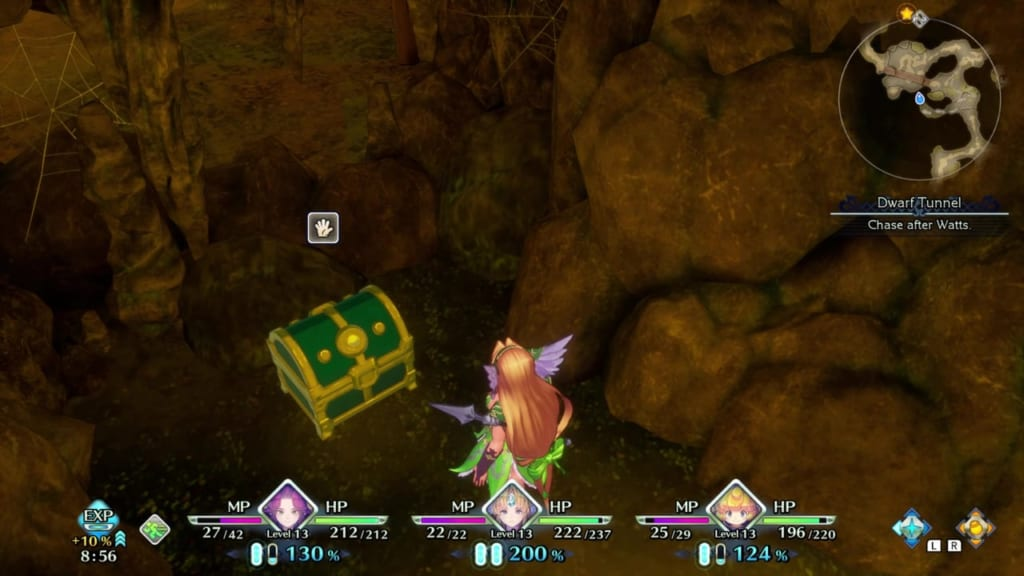 Trials of Mana - Chapter 1: Dwarf Tunnel - Chest Location 3