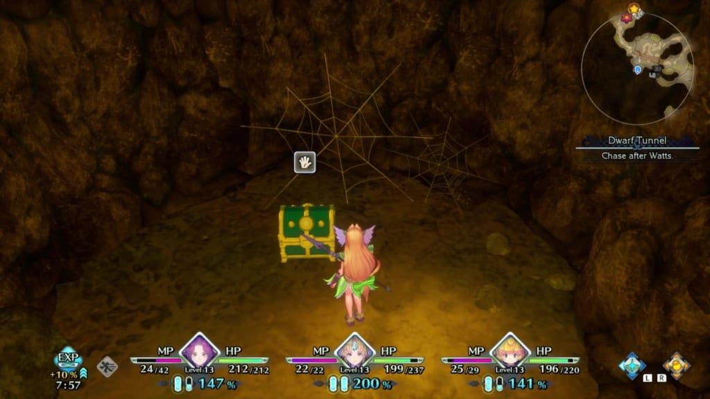 Trials of Mana - Chapter 1: Dwarf Tunnel - Chest Location 4