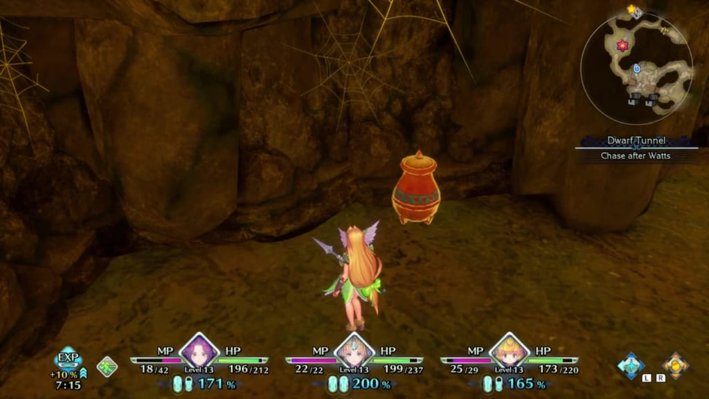 Trials of Mana - Chapter 1: Dwarf Tunnel - Vase Location 3