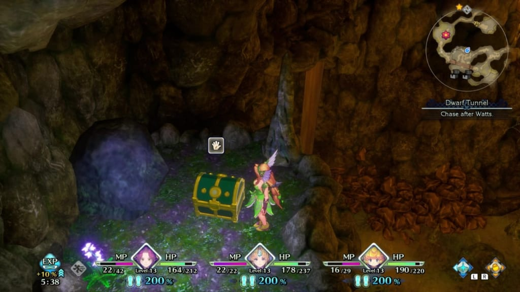 Trials of Mana - Chapter 1: Dwarf Tunnel - Chest Location 5