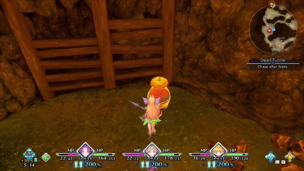 Trials of Mana - Chapter 1: Dwarf Tunnel - Vase Location 4