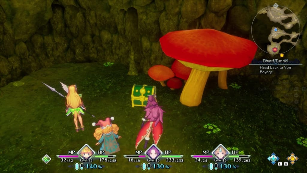 Trials of Mana - Chapter 1: Dwarf Tunnel - Chest Location 6