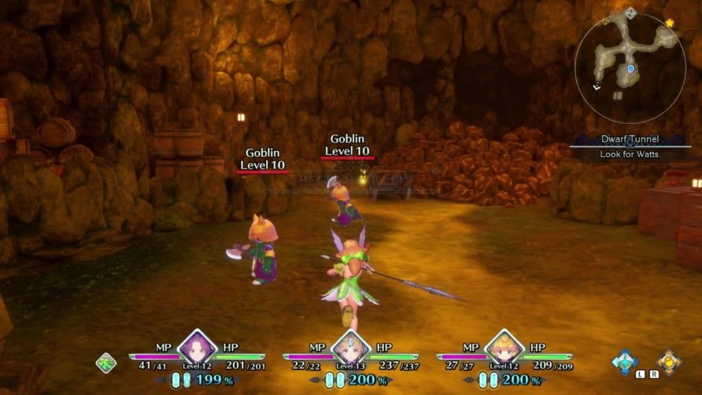 Trials of Mana - Chapter 1: Dwarf Tunnel - Hidden Location 1