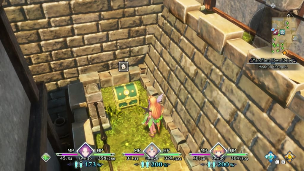 Trials of Mana - Chapter 1: Merchant Town Beiser - Chest Location 2