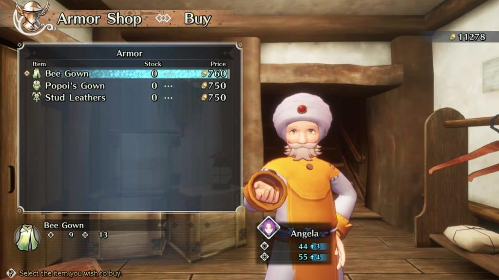 Trials of Mana - Chapter 1: Merchant Town Beiser - Armor Shop