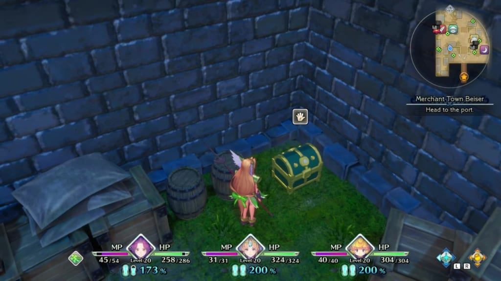 Trials of Mana - Chapter 1: Merchant Town Beiser - Chest Location 4