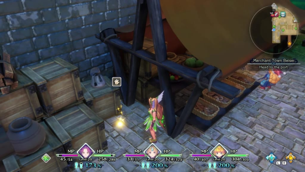 Trials of Mana - Chapter 1: Merchant Town Beiser - Orb Location 9
