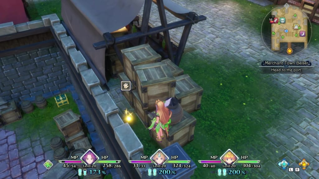 Trials of Mana - Chapter 1: Merchant Town Beiser - Orb Location 8