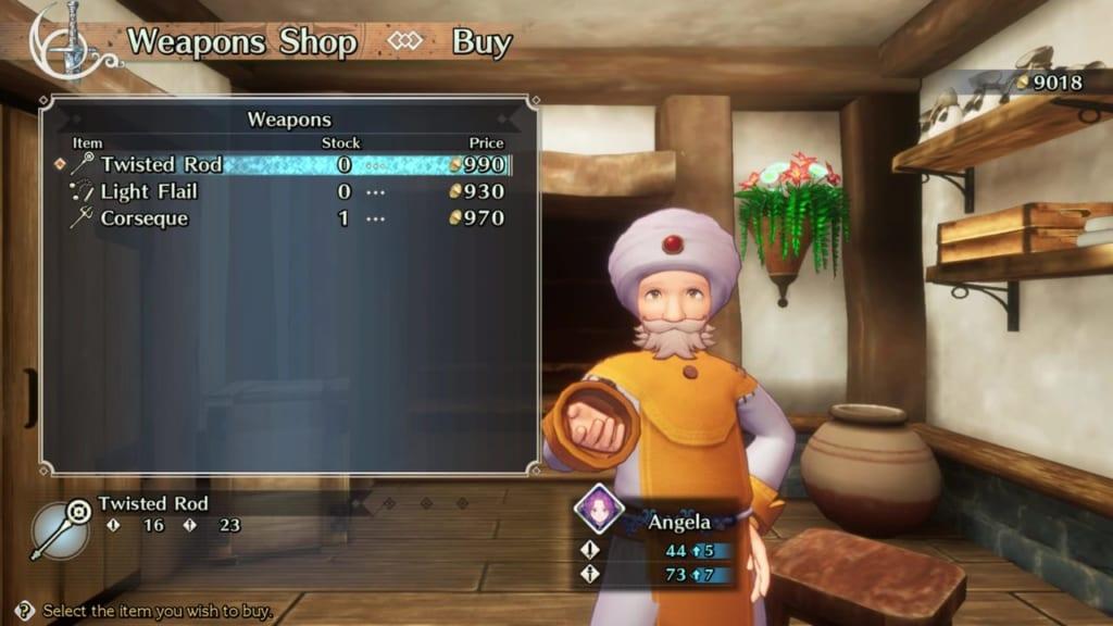 Trials of Mana - Chapter 1: Merchant Town Beiser - Weapon Shop