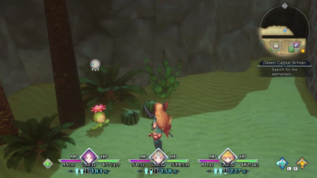 Trials of Mana Remake - Chapter 3: Desert Capital Sirhtan - Lil' Cactus Location 21