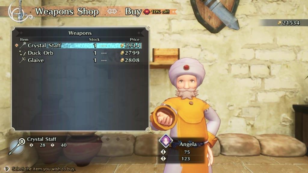 Trials of Mana Remake - Chapter 3: Desert Capital Sirhtan - Weapon Shop