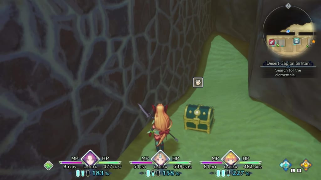 Trials of Mana Remake - Chapter 3: Desert Capital Sirhtan - Chest Location 2