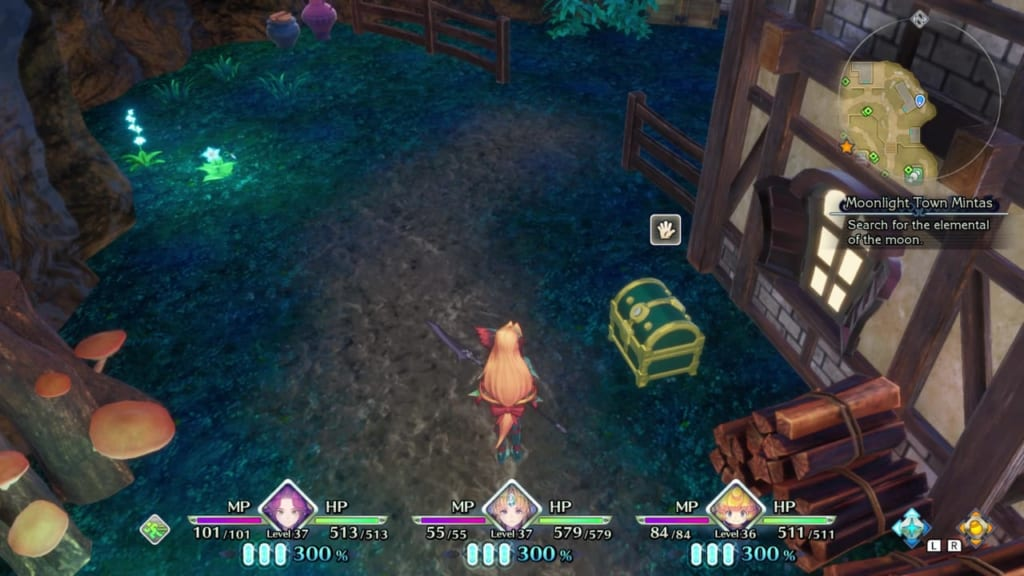 Trials of Mana - Chapter 3: Moonlight Town Mintas - Chest Location 1