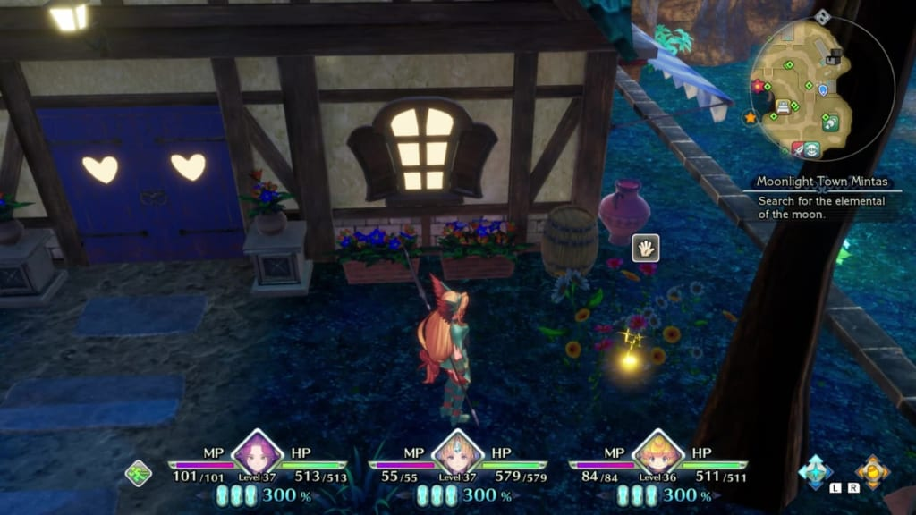 Trials of Mana Remake - Chapter 3: Moonlight Town Mintas - Orb Location 3
