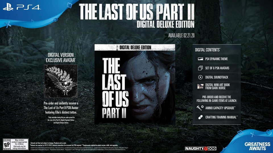 The Last of Us 2 - Pre-order Bonuses