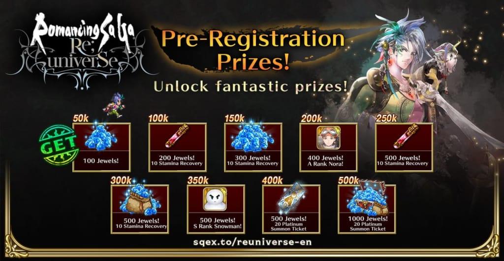 Romancing SaGa Re;Universe - Pre-Registration Rewards