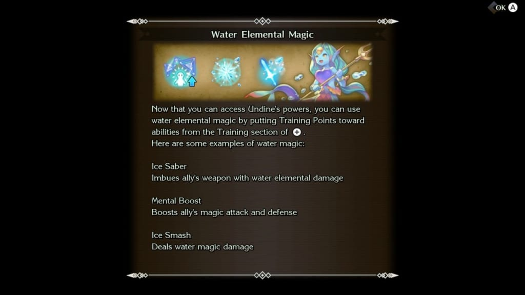 Trials of Mana - Chapter 3: Labyrinth of Ice - Water Elemental Moves and Magic