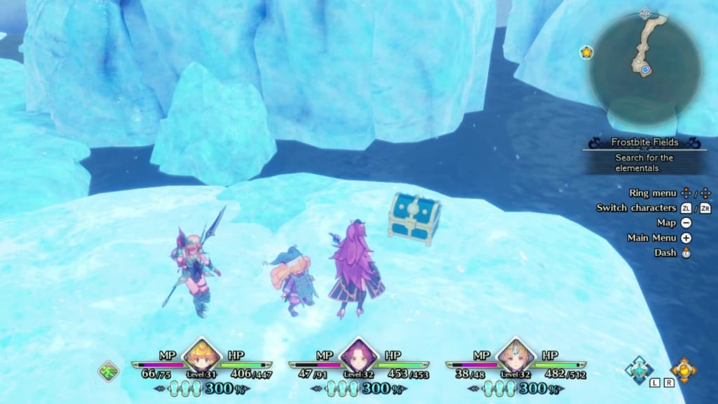 Trials of Mana Remake - Chapter 3: Frostbite Fields - Chest Location 1