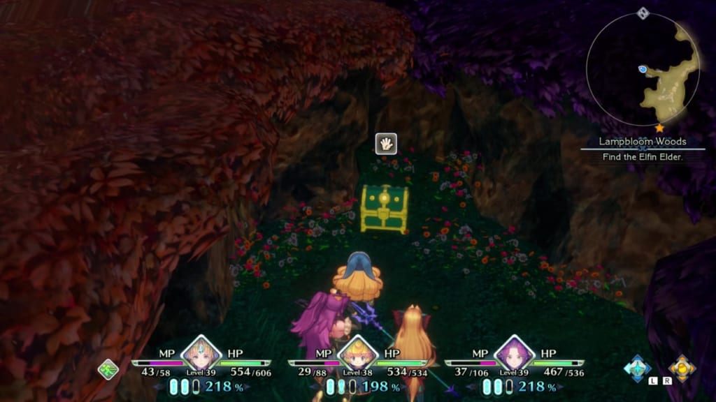 Trials of Mana Remake - Chapter 3: Lampbloom Woods - Chest Location 2