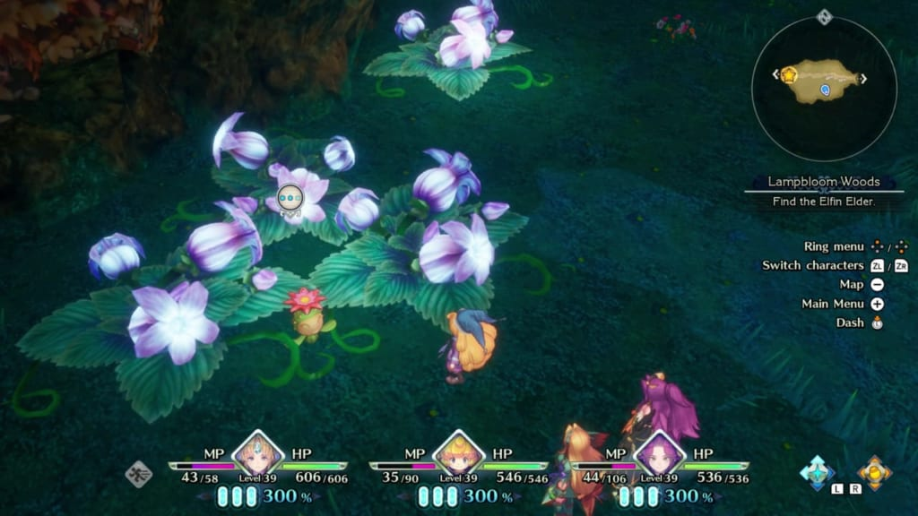 Trials of Mana Remake - Chapter 3: Lampbloom Woods - Lil' Cactus Location 30
