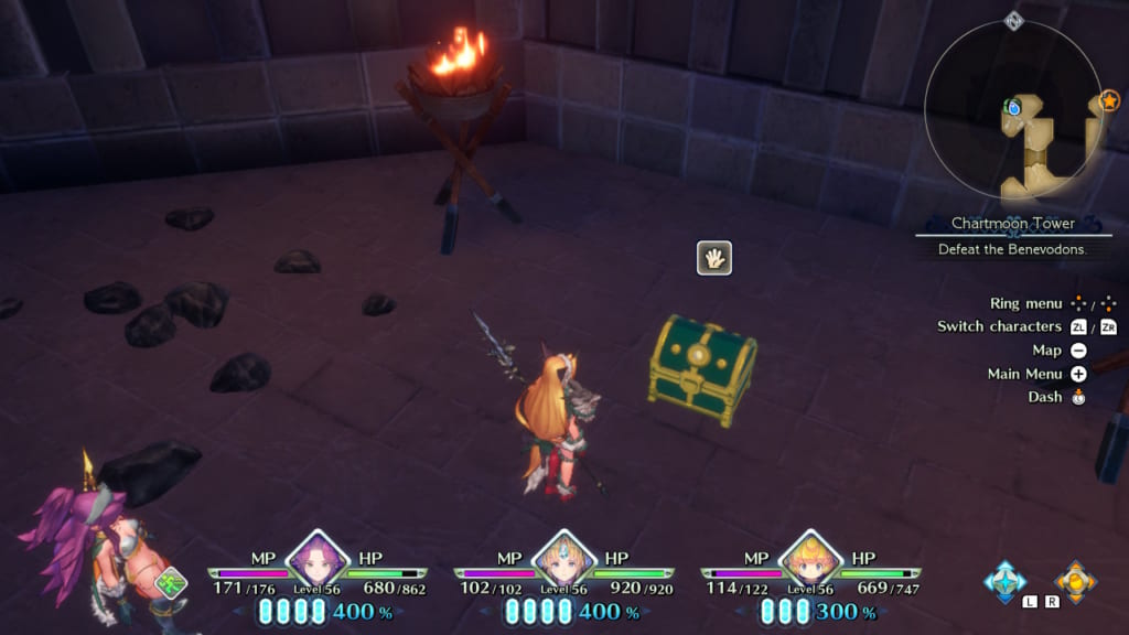 Trials of Mana Remake - Chapter 5: Chartmoon Tower Revisited - Chest Location 3