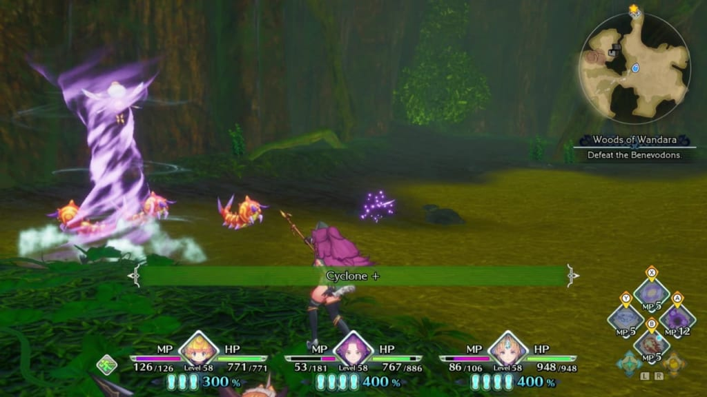 Trials of Mana Remake - Chapter 5: Woods of Wandara - Use Elemental Magic