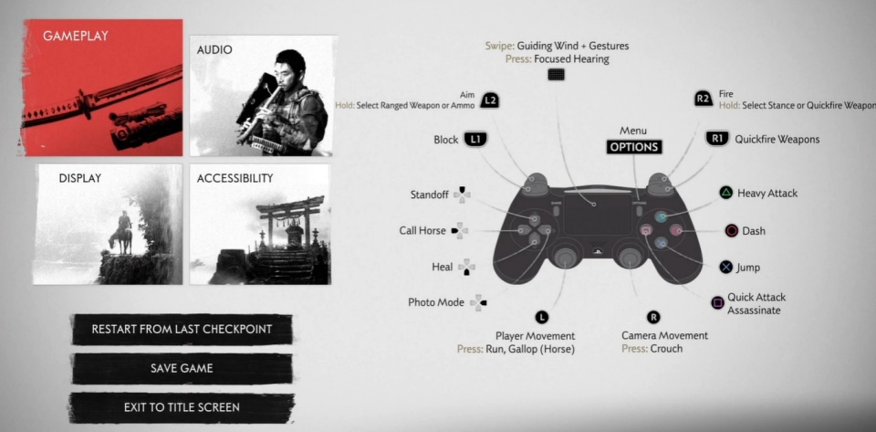 Ghost of Tsushima - Game Controls