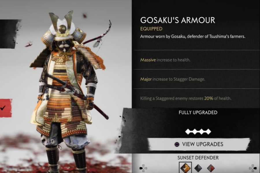Ghost of Tsushima - Gosaku's Armor Set
