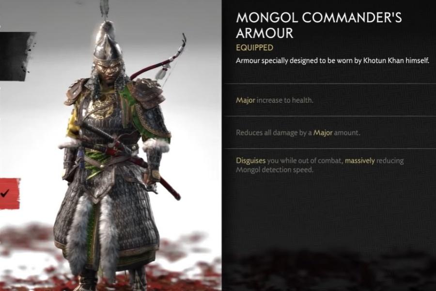Ghost of Tsushima - Mongol Commander's Armor Set